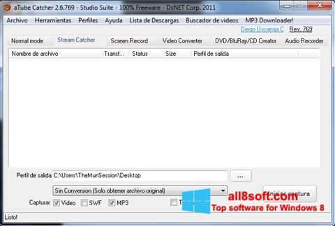 Petikan skrin aTube Catcher untuk Windows 8