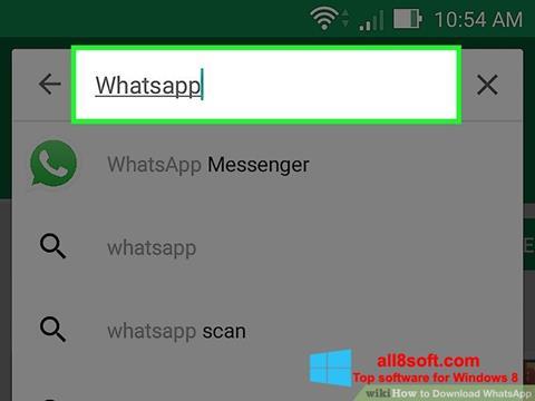 Petikan skrin WhatsApp untuk Windows 8