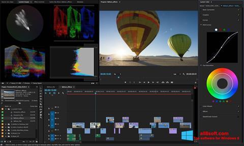 Petikan skrin Adobe Premiere Pro untuk Windows 8