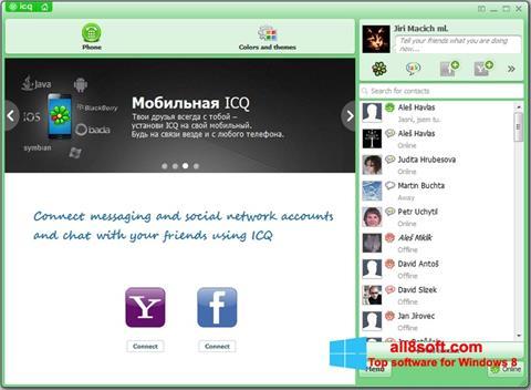 Petikan skrin ICQ untuk Windows 8