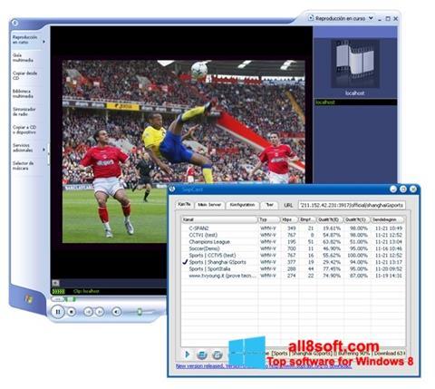 Petikan skrin SopCast untuk Windows 8