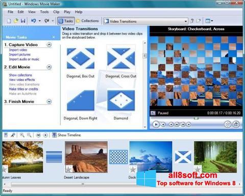 Petikan skrin Windows Movie Maker untuk Windows 8