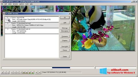 Petikan skrin VirtualDubMod untuk Windows 8