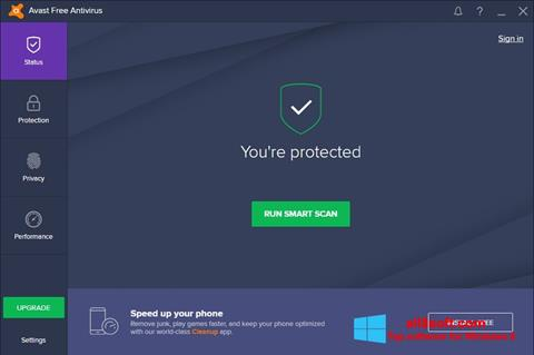 Petikan skrin Avast Free Antivirus untuk Windows 8