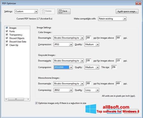 Petikan skrin Adobe Acrobat Pro DC untuk Windows 8