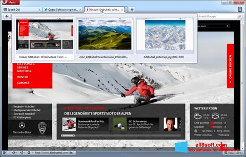 Petikan skrin Opera untuk Windows 8