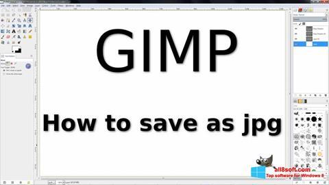 Petikan skrin GIMP untuk Windows 8