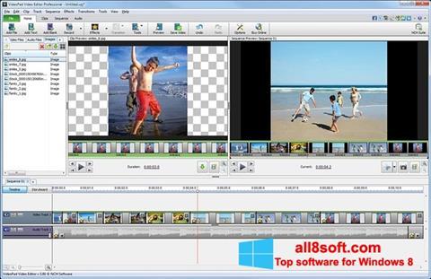 Petikan skrin VideoPad Video Editor untuk Windows 8