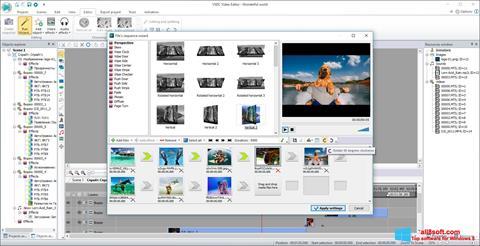 Petikan skrin VSDC Free Video Editor untuk Windows 8