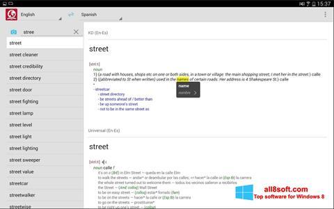 Petikan skrin ABBYY Lingvo untuk Windows 8