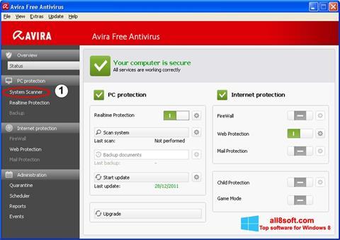 Petikan skrin Avira untuk Windows 8