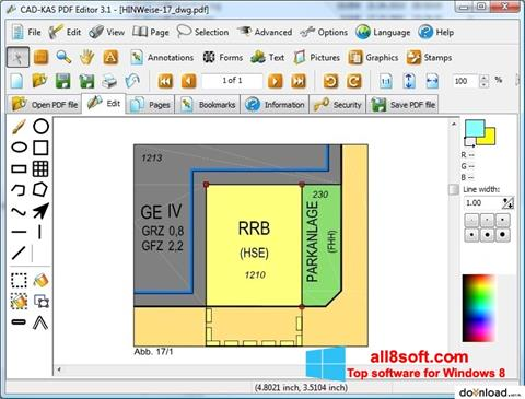 Petikan skrin PDF Reader untuk Windows 8