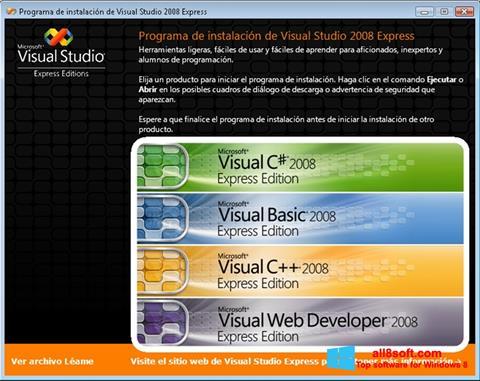 Petikan skrin Microsoft Visual Studio untuk Windows 8