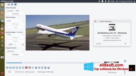 Petikan skrin Avidemux untuk Windows 8